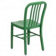 Flash Furniture CH-61200-18-GN-GG Green Metal Indoor-Outdoor Chair addl-2