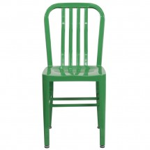 Flash Furniture CH-61200-18-GN-GG Green Metal Indoor-Outdoor Chair addl-3