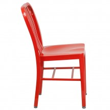 Flash Furniture CH-61200-18-RED-GG Red Metal Indoor-Outdoor Chair addl-1
