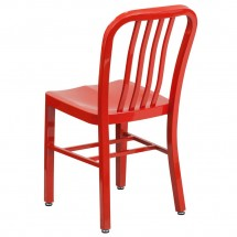 Flash Furniture CH-61200-18-RED-GG Red Metal Indoor-Outdoor Chair addl-2