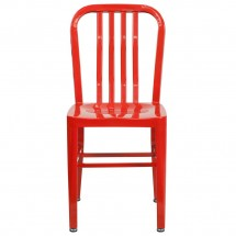 Flash Furniture CH-61200-18-RED-GG Red Metal Indoor-Outdoor Chair addl-3