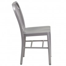 Flash Furniture CH-61200-18-SIL-GG Silver Metal Indoor-Outdoor Chair addl-1