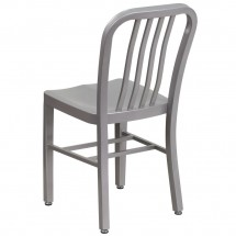 Flash Furniture CH-61200-18-SIL-GG Silver Metal Indoor-Outdoor Chair addl-2