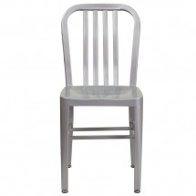 Flash Furniture CH-61200-18-SIL-GG Silver Metal Indoor-Outdoor Chair addl-3