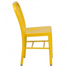 Flash Furniture CH-61200-18-YL-GG Yellow Metal Indoor-Outdoor Chair addl-1