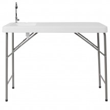 Flash Furniture DAD-PYZ-116-GG 23W x 45L Granite White Plastic Folding Table with Sink addl-2