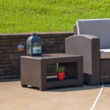 Flash Furniture DAD-SF1-S-GG Chocolate Brown Faux Rattan End Table addl-1