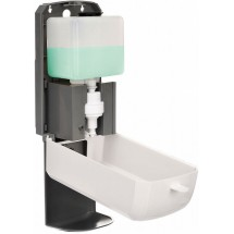 Alpine 430-F-T Automatic Hands-Free Foam Hand Sanitizer / Soap Dispenser with Drip Tray, White, 1200 ml addl-2