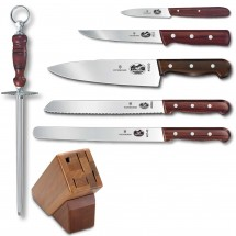 Victorinox 46054 7 Piece Knife Block Set with Rosewood Handles addl-1